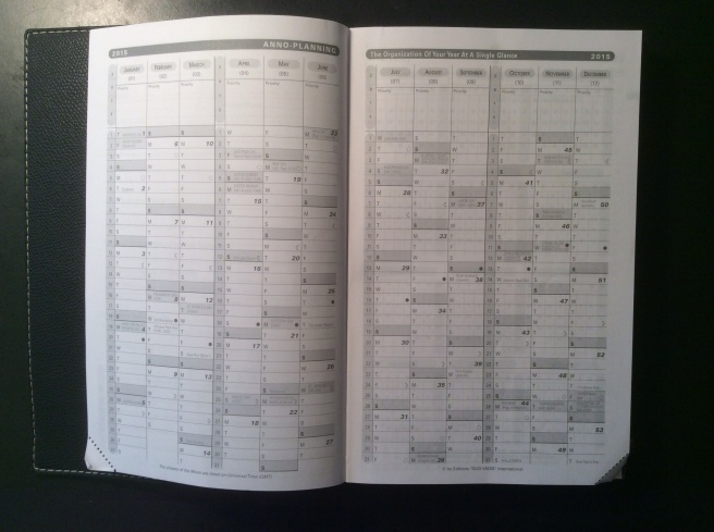 Anno planning calendar